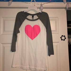 Tops - Heart Baseball Tee